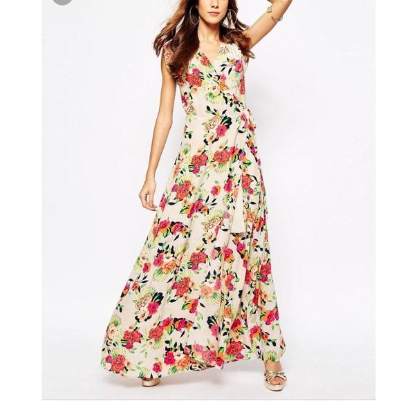 Yumi Kim Dresses Swept Away Silk Maxi Dress Small Peonies Poshmark